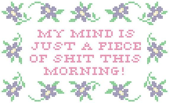 Winnebago Man Jack Rebney quote cross stitch pattern PDF
