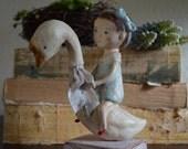 Prim Folk Art Doll - Girl and Her Goose