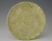 Lime or Mint 9 inch Vine Textured Plate