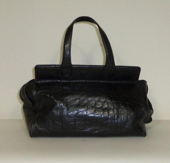 Designer CALVIN KLEIN vintage leather satchel/doctor bag