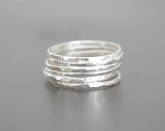 Sterling Silver Stacking Ring Set of 6