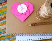 One PINK Origami LOVE note/card/decoration