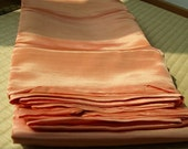 Silk Flat Sheet Orange - Queen/King Size