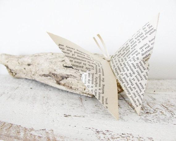12 Paper Butterflies Book Page Butterfly Folded Butterflies
