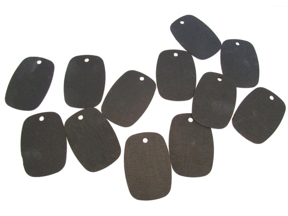 Set of 12 Chalkboard Tags Made From Vintage Laminate Sample Chips