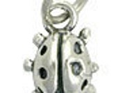 Lady Bug - Sterling Silver Charm - Necklace Jewelry - Necklace Charm - Bug - Lady Bug - Ladybird