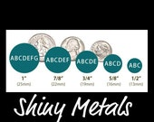 """1 inch Disc Sterling Silver - Hand Stamped Jewelry - Extra Disc - Add On To Your Custom Necklace Sterling Silver 1"""" Disc ONE 22 gauge"""