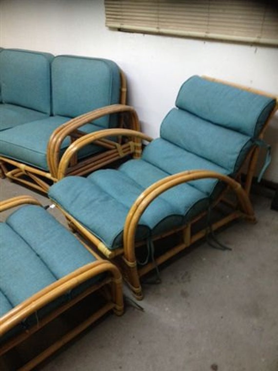 Items Similar To Vintage Rattan Furniture Set Tropitan By
