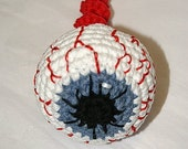 Bloodshot Eyeball (color of your choice) - Amigurumi Ornament / Toy