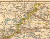 1905 Antique Dated Map of Inner or Central Asia - CabinetOfTreasures