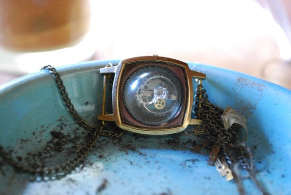 Neo Victorian Watch Case Necklace