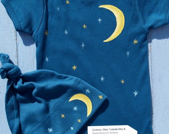 Popular Items For Moon And Stars Baby On Etsy