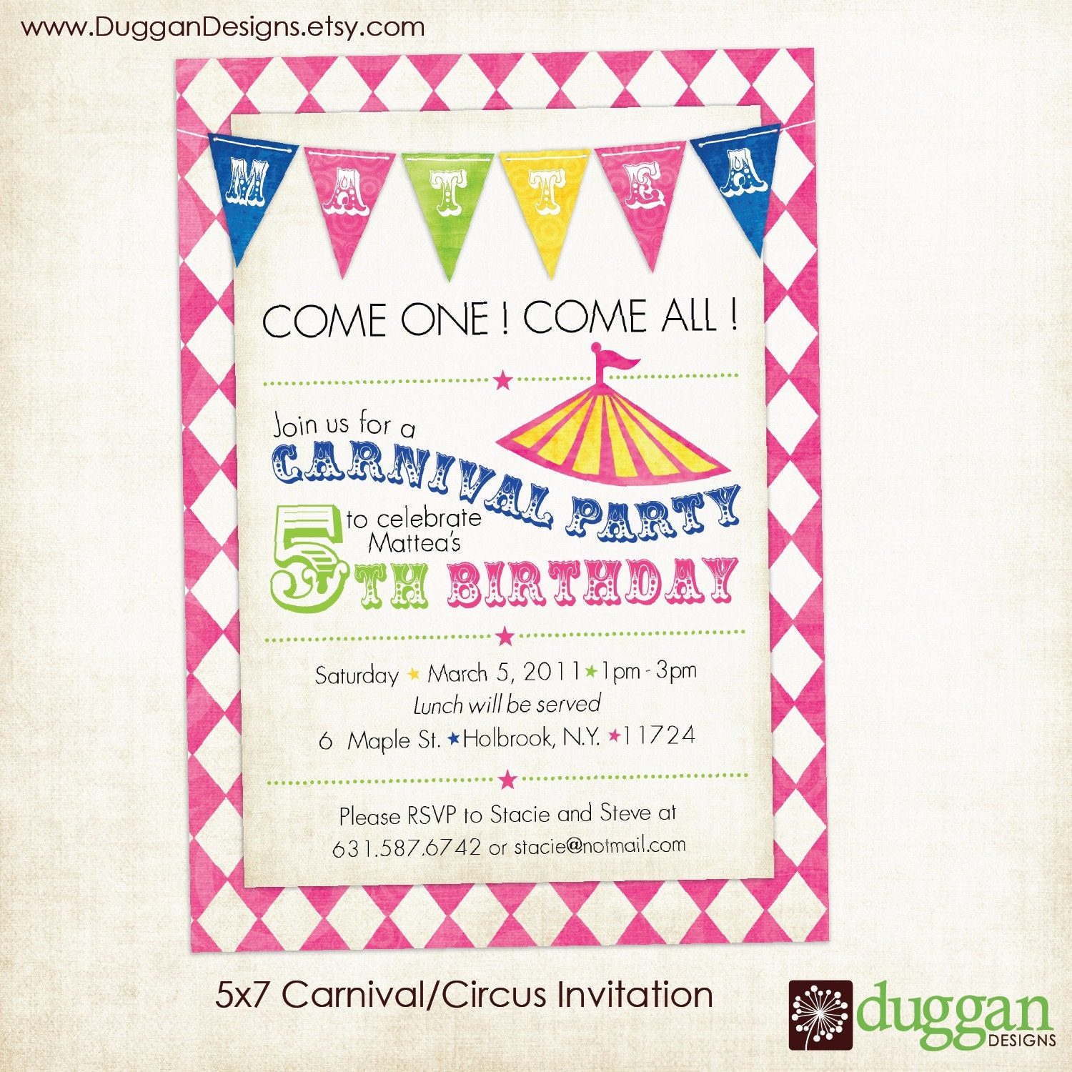 Agile image within printable carnival birthday invitations