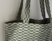 Upcycled All Purpose Tote / Market Bag - Fully Lined