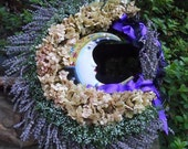 Reserved for Crystals4eternity Sweet Lavender Dreams ........... A Witchy Wreath honoring Sister Moon