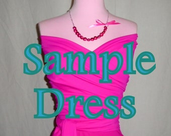 SAMPLE Bridesmaids Convertible Dress - -Please READ Before Purchasing - - The Perfect Bridesmaid Dress 37 Colors
