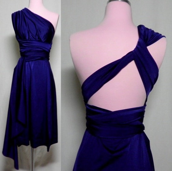 Custom Listing Lindsay/Linzy Navy Blue Infinity Convertible Wrap Dress ... Wedding, Bridesmaids, Honeymoon, Beach, Date Night