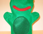 Green Frog Puppet