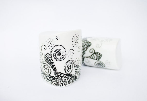 Salt and Pepper Shakers - painted Burton's Trees
