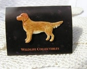 Vintage Enamel GOLDEN RETRIEVER tack Pin by Wildlife Collectibles New old stock