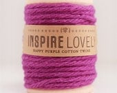 80 yards Happy Purple Cotton Twine