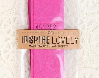 SALE- 24 Magenta Blank Carnival Tickets