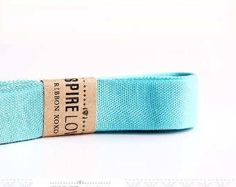 Vintage inspired Seam Binding ribbon xoxo- Baby Blue
