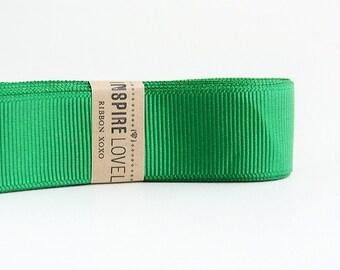 25 yards of beautiful Grass Green Grosgrain Ribbon xoxo