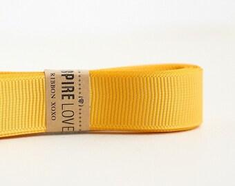 20 yards Golden Yellow Grosgrain Ribbon xoxo