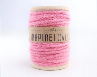 90 yards Baby Pink Cotton Twine