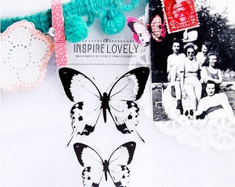 Transparency Embellishment love-  Butterflies