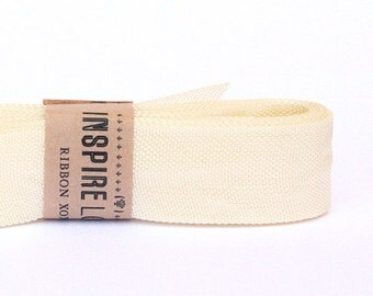 Vintage inspired Seam Binding ribbon xoxo- Sugar Cream