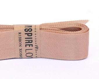 Vintage inspired Seam Binding ribbon xoxo- Coco Brown