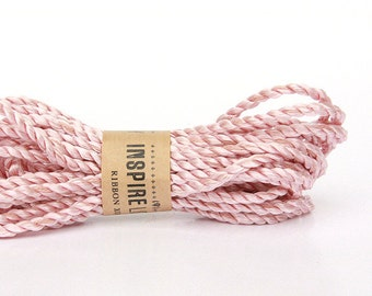 30 yards Satin twine cord xoxo - Vintage Pink