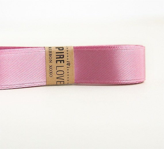 Satin Mauve Ribbon xoxo