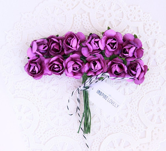 Lovely Paper Floral bunch - Purple love