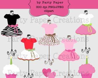 INSTANT DOWNLOAD Leopard and Zebra Girly Tutu Pettiskirt Dress Form Clip Art Boutique graphics