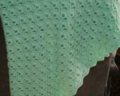 Crochet Mint Green Baby Blanket