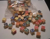 """lot of 175 plus ABC blocks or beads 5/8"""" size squares NOW includes free shiiping"""