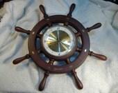 Vintage 1960's Taylor Ships Wheel Clock.