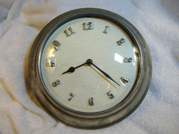 Vintage Sterling And Noble Wall Clock Original Style