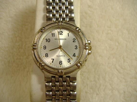 Vintage 1980s McGregor Quartz Watch