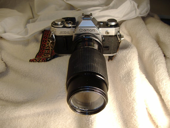 Vintage 1970s Canon AE-1 with 1:4.5 80-200mm JC Penney Zoom Lens