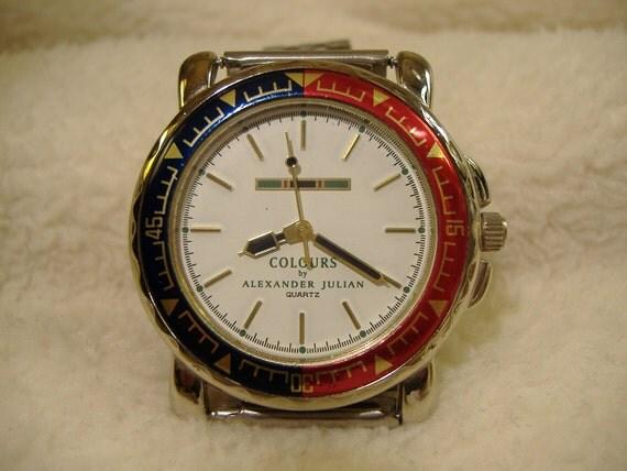Vintage 1980s Alexander Julian Colours Watch