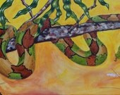 """Colorful Snake Painting - """"Full Stomach"""