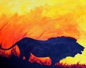 "Roaring Lion Painting - ""Night Calls"""