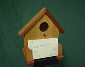Cedar Birdhouse Themed Business Card Holder