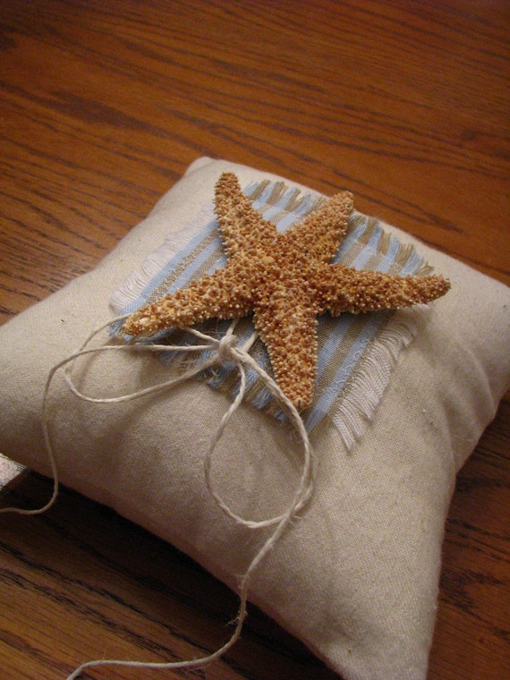 Starfish Ring Bearer Pillow for your Beach, Ocean or Seaside Wedding