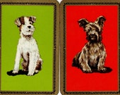 Vintage Playing Cards- Posing Dogs