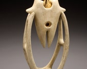 """Abstract sculpture, ceramic, titled """"Ritual Father"""""""